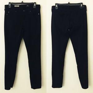 AG Black The Stilt Cigarette Jeans